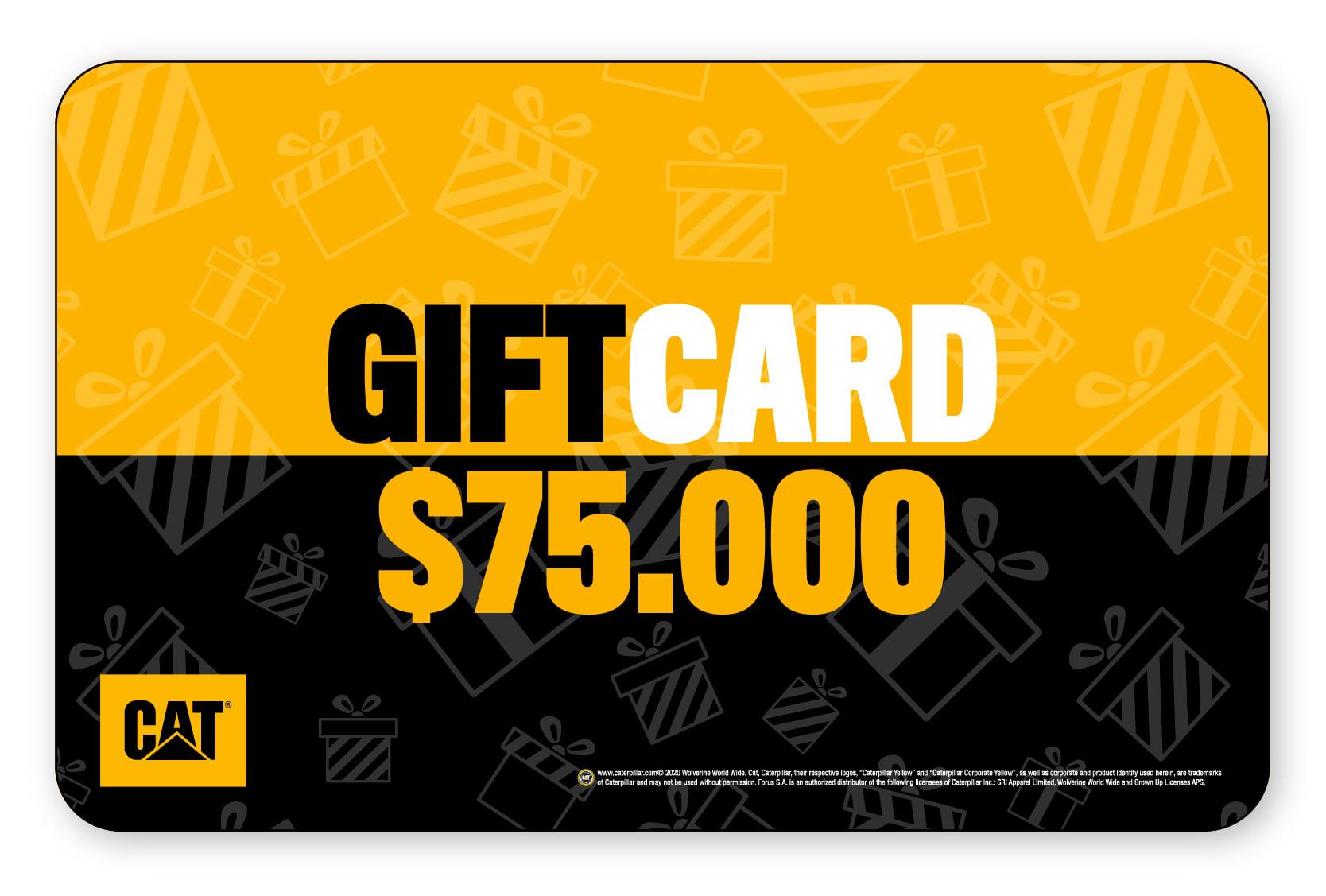 Gift Card $75.000
