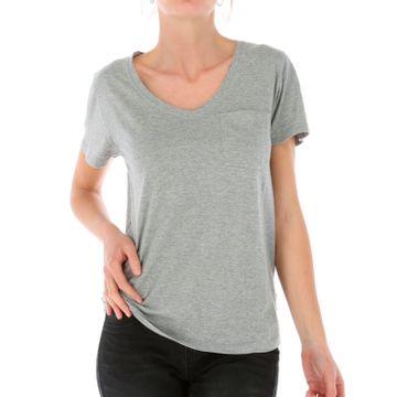 Polera Mujer V Neck Pocket