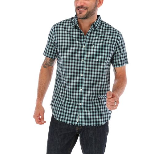 Camisa Hombre Poplin Check S/S