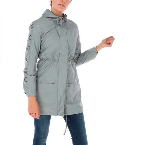 Chaqueta Mujer Grommet Sleeve Fleec