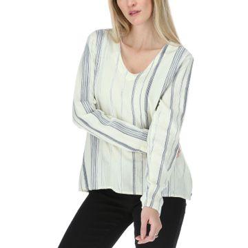 Blusa Mujer Peasant Stripe L/S