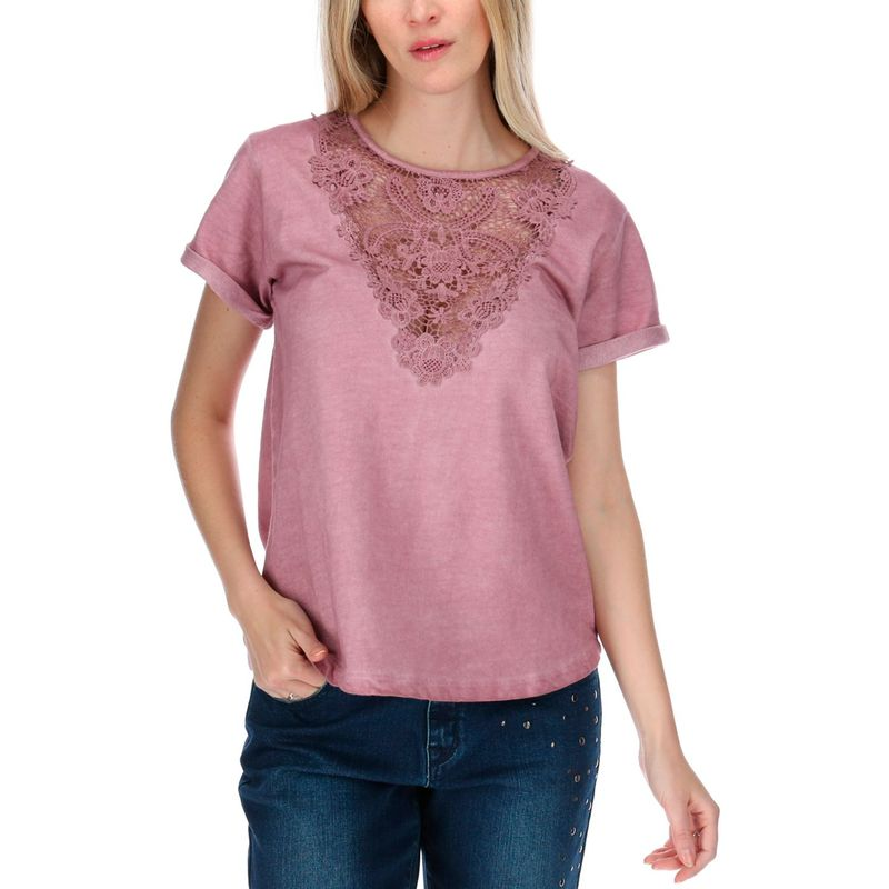 Polera-Mujer-Lace-Front-S-S-Knit