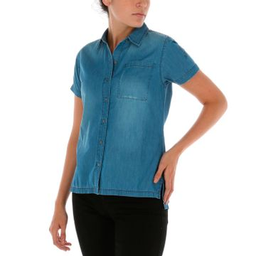 Blusa Mujer Distressed S/S Woven