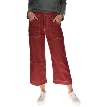 Pantalón Mujer Crop Palazzo