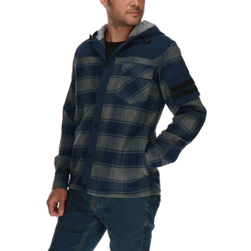 Chaqueta Hombre Code Ls Hooded Flannel