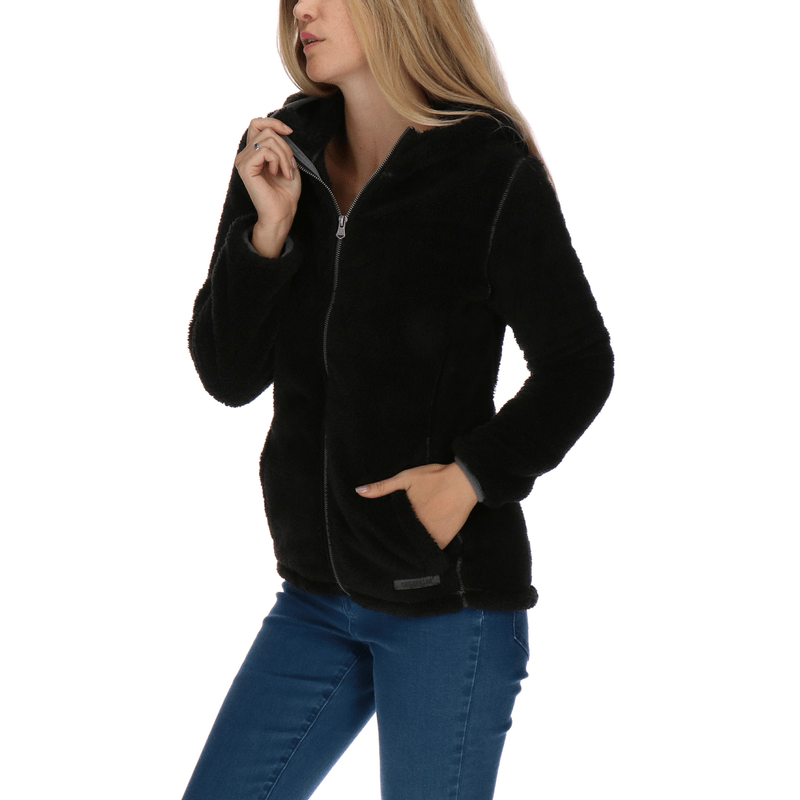 Polar-Mujer-Fuzzy-Fleece-Jacket
