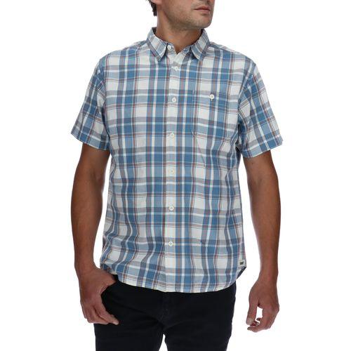Camisa Mnaga Corta Hombre Foundation Large Plaid