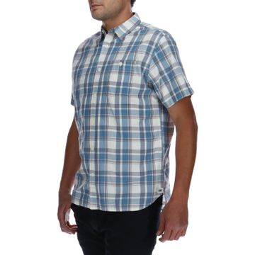 Camisa Mnaga Corta Hombre Foundation Large Plaid