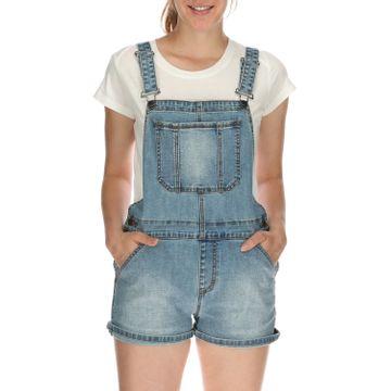 Jardinera Mujer Denim Overall Short