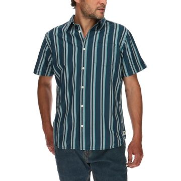 Camisa Manga Corta Hombre Contemporary Striped